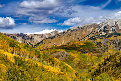 Fall Color Above Marble Colorado Poster by Teri Virbickis