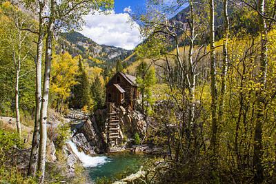 Fall Colors At Historic Crystal Mill Poster by Teri Virbickis