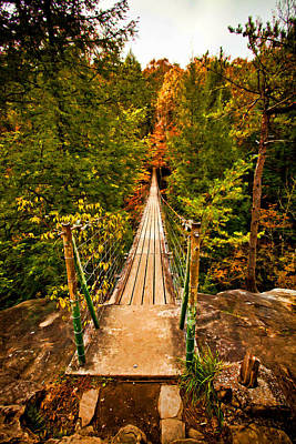 Fall Creek Falls Bridge Poster by Paul Bartoszek