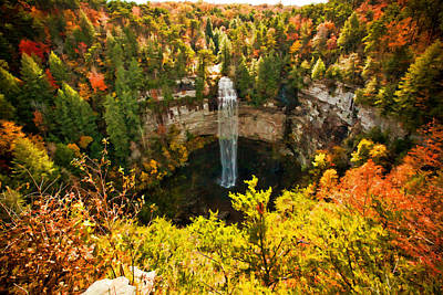 Fall Creek Falls Poster by Paul Bartoszek