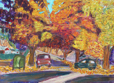 Fall In Santa Clara Poster by Carolyn Donnell