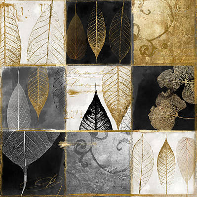 Fallen Gold Autumn Leaves Poster by Mindy Sommers