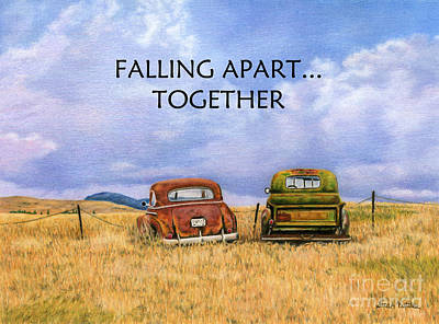 Falling Apart Together Poster by Sarah Batalka