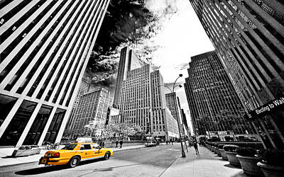 Falling Lines - Rockefeller Center Poster by Thomas Splietker