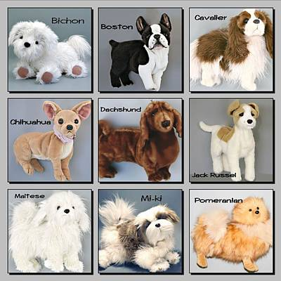 Famous Dogs Poster by David and Lynn Keller