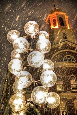 Faneuil Hall Lollypop Lights Boston Ma Poster by Toby McGuire
