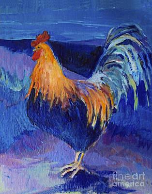 Fantasy Rooster Poster by Diane Ursin