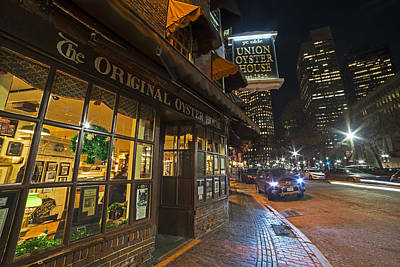 Fanueil Hall Union Oyster House Boston Ma Poster by Toby McGuire