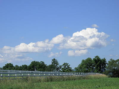 Farm Field And Fences Poster by Frank Romeo