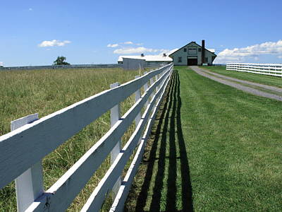 Farm House And Fence Poster by Frank Romeo