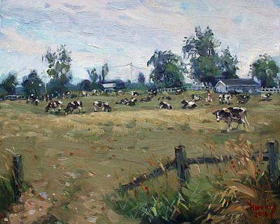 Farm In Terra Cotta On Poster by Ylli Haruni