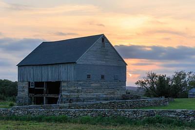 Farm Sunset Poster by Bryan Bzdula
