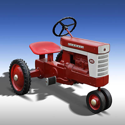 Farmall Peddle Tracter Poster by Mike McGlothlen