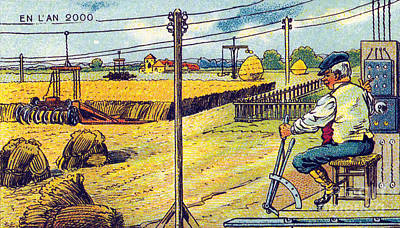 Farming, 1900s French Postcard Poster by Science Source