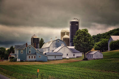 Farming Before The Storm Finger Lakes New York 04 Poster by Thomas Woolworth