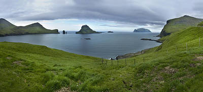 Faroes Panorama Poster by Robert Lacy