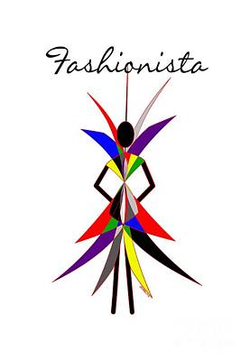 Fashionista Poster by Methune Hively