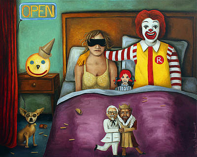 Fast Food Nightmare 2 Different Tones Poster by Leah Saulnier The Painting Maniac