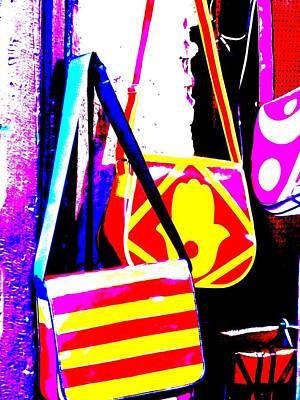 Fatima Bags In Marrakech Poster by Funkpix Photo Hunter