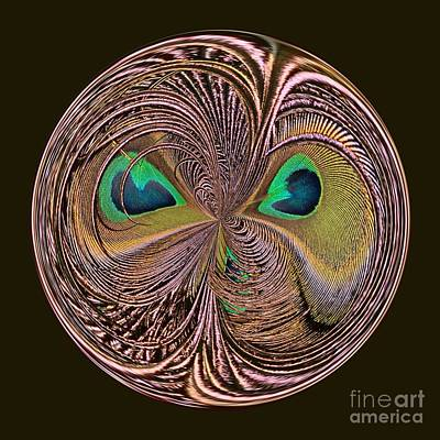 Feather Eyes Orb Poster by Marv Vandehey