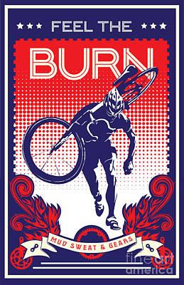 Feel The Burn Poster by Sassan Filsoof