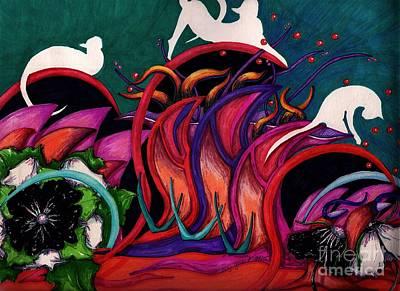 Feline Ecstasy Poster by Suzi Gessert