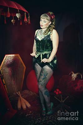 Female Circus Performer Poster by Amanda Elwell