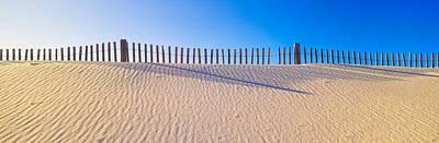 Fence Along Beach At Santa Rosa Island Poster by Panoramic Images