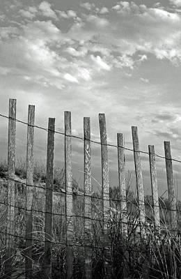 Fence At Jones Beach State Park. New York Poster by Gary Koutsoubis