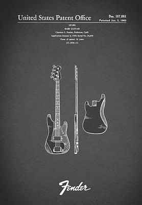 Fender Bass Guitar 1960 Poster by Mark Rogan