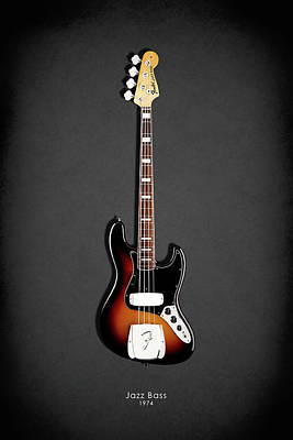 Fender Jazzbass 74 Poster by Mark Rogan