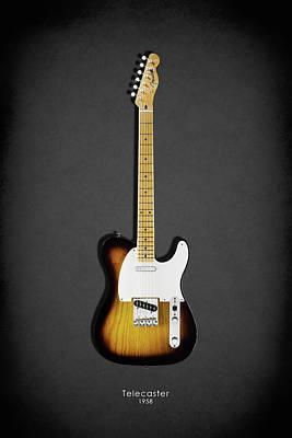 Fender Telecaster 58 Poster by Mark Rogan