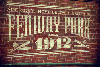 Fenway Park 1912 - Boston Red Sox Poster by Joann Vitali