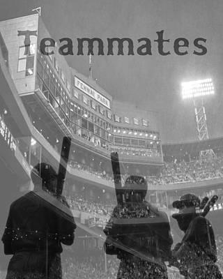 Fenway Park Teammates - Boston Poster by Joann Vitali