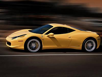 Ferrari 458 Italia Poster by Douglas Pittman
