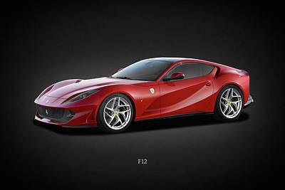 Ferrari F12 Poster by Mark Rogan