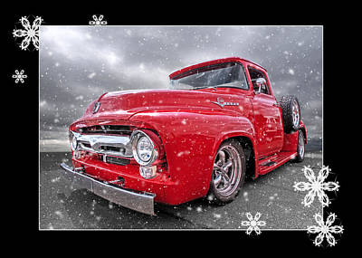 Festive Red F100 Poster by Gill Billington