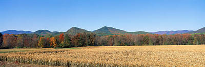 Field And Mountains, New York Poster by Panoramic Images