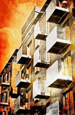 Fiery Building Poster by Tom Gowanlock