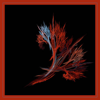 Fiery Weeds Poster by Bonnie Bruno