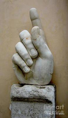 Finger -rome Poster by Italian Art