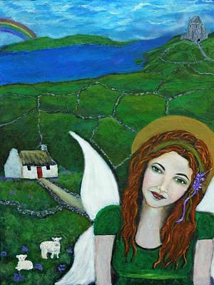 Forty Poster featuring the painting Fiona An Irish Earthangel by The Art With A Heart By Charlotte Phillips
