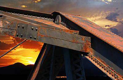 Fire Bridge Poster by Carver Kearney