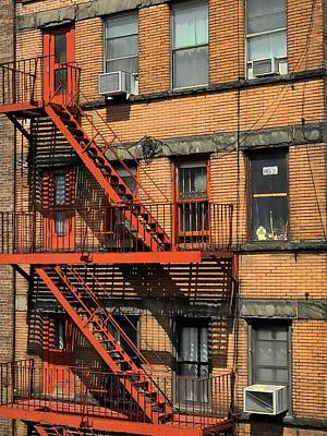 Fire Escape Poster by Mike Durant