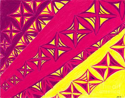 Fire Velvet Lace Poster by Kim Sy Ok