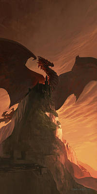 Fireborn Dragon Poster by Sedone Thongvilay