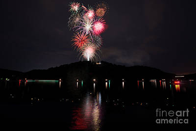 Fireworks At Cheat Lake Poster by Dan Friend