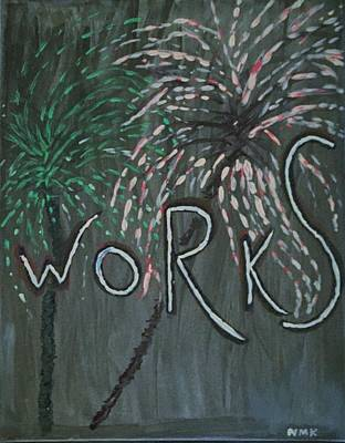 Fireworks Set- Part 2 Poster by Nannette Kelly