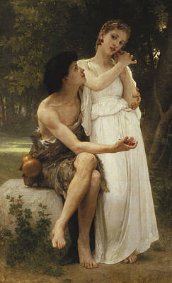 First Jewellery Poster by William Adolphe Bouguereau