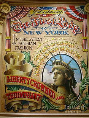 First Lady Of New York Poster by Frederick Holiday